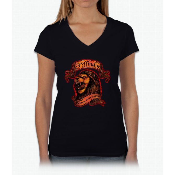 Gryffindor Harry Potter Womens V-Neck T-Shirt