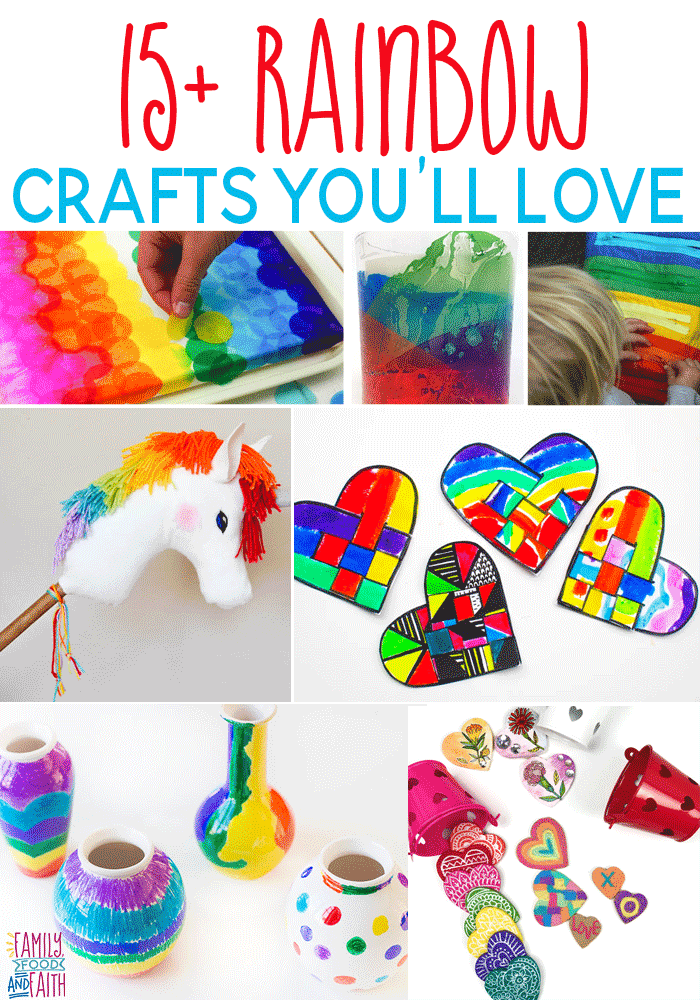 These Beautiful Rainbow Crafts Will Bring The Colors Of The Rainbow