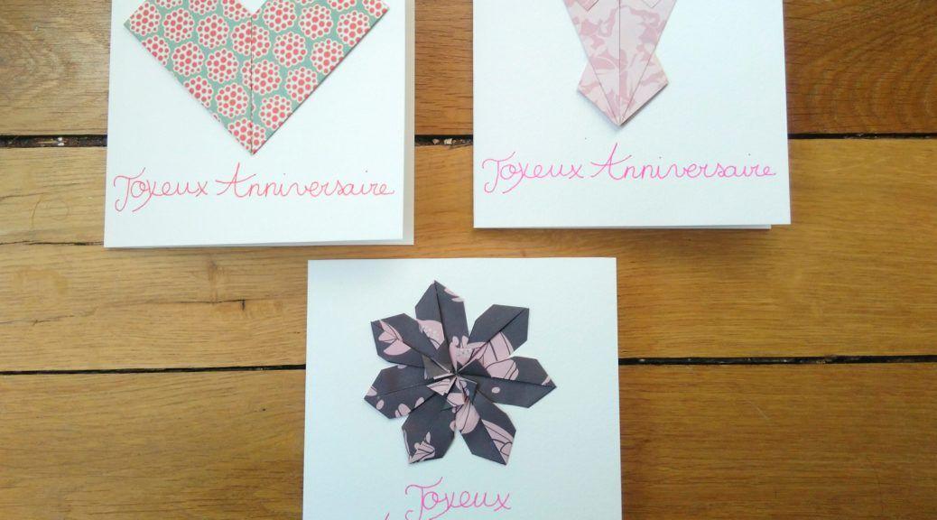 Cartes De Voeux Joyeux Anniversaire Pour Femme En Origami Carte