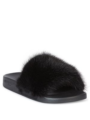 cbce86f30af0 GIVENCHY Mink Fur   Rubber Slides.  givenchy  shoes  slides ...