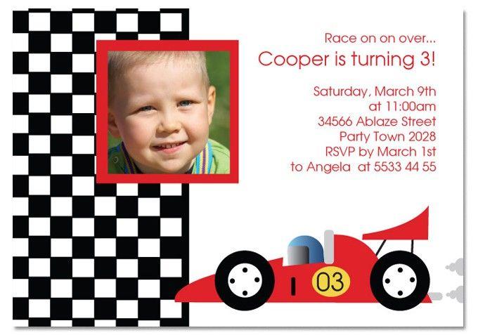 nice free template race car birthday party invitations | baby, Birthday invitations