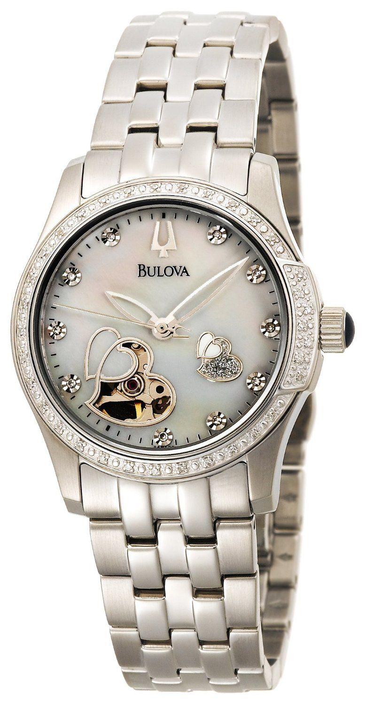 Bulova Women s 96R122 Diamond Accented Automatic Watch 640976f0fb