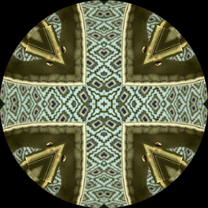 Mandalas from around my daily life.  I created these mandala with a smart phone app, KALEIDAGRAM, from Blink Tap, LLC. It creates mandalas from anything that the smart phone or tablet takes photos of. It works with both Android and Apple phones and tablets.
