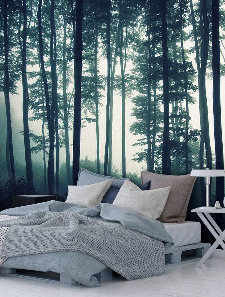Vlies Fototapete, Fototapete aus Vlies mit Waldmotiv  - fototapete wald schlafzimmer