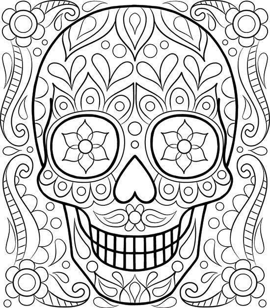 Free Sugar Skull Coloring Page by Thaneeya McArdle Davlin ...