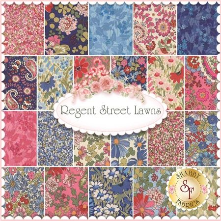 Regent Street Lawns Moda Fabric Precuts Charm Pack