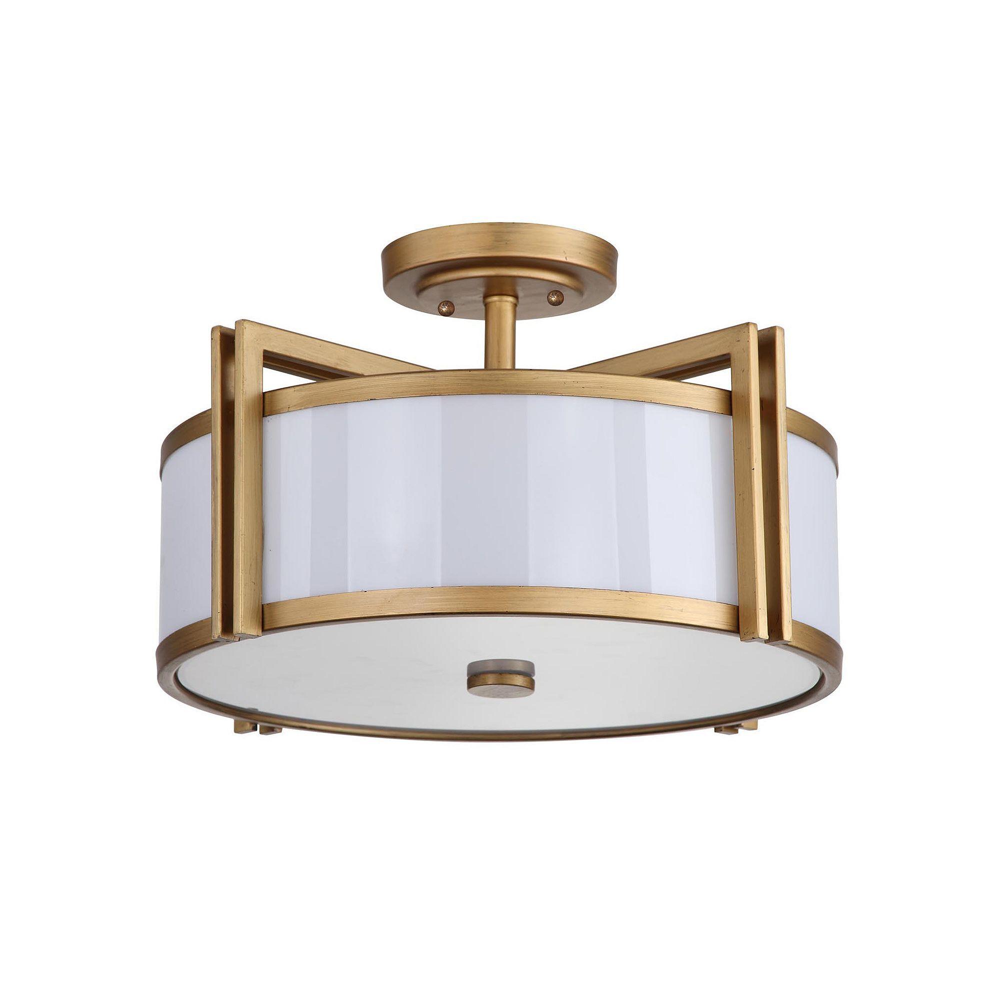 Hallway flush mount lighting  Safavieh Orb SemiFlush Mount Ceiling Light Gold  Pinterest