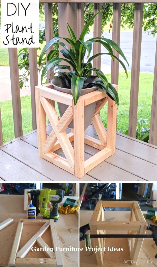 15 Adorable Gardening Furniture Projects with Wood