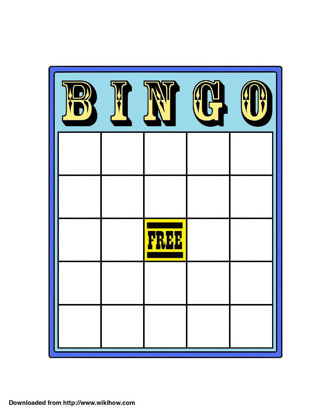 How To Play Bingo 13 Steps With Pictures Wikihow In Blank Bingo Card Template Microsoft Word Business Card Template Word Bingo Template Blank Bingo Cards