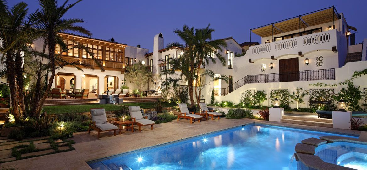 Spanish revival estate home with southern californian for Beautiful mediterranean homes