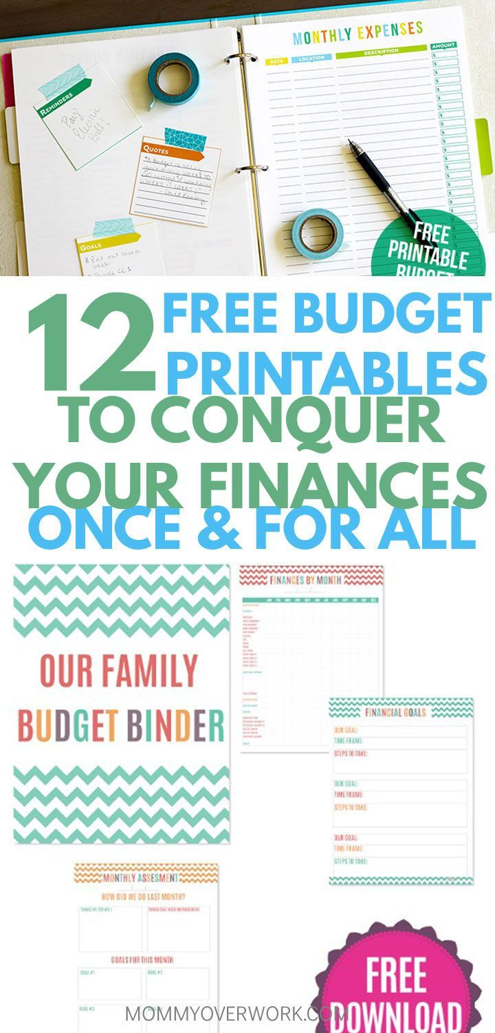 12 Free Printable Budget Worksheets to GET CONTROL OF YOUR