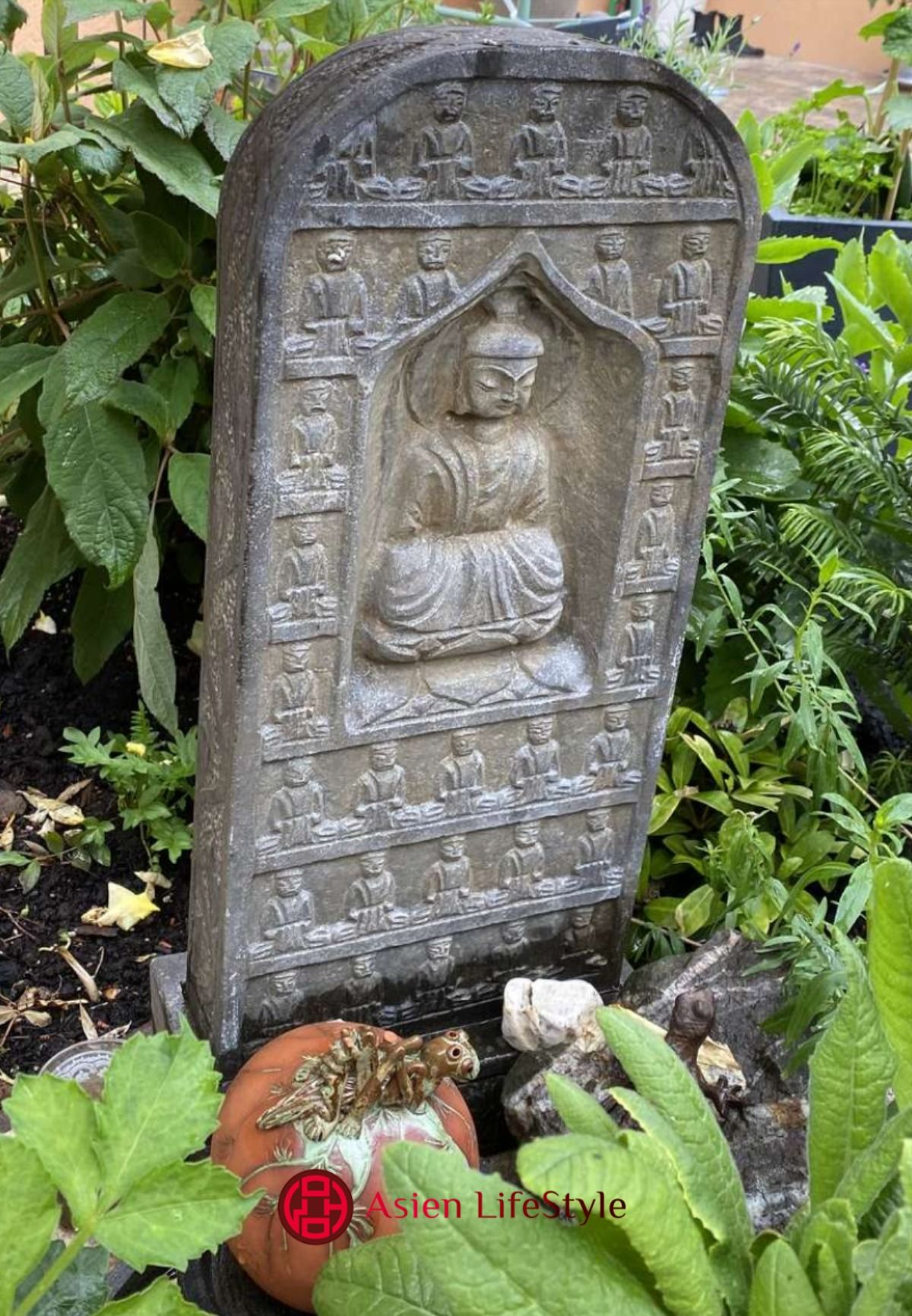 Asiatische Stein Buddha Figur Aus Naturstein Buddha Figur Flaschenoffner Wand Buddha