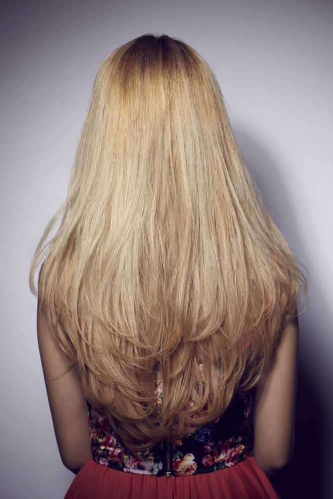 Long Straight Layered Haircuts Back and cool hairstyle