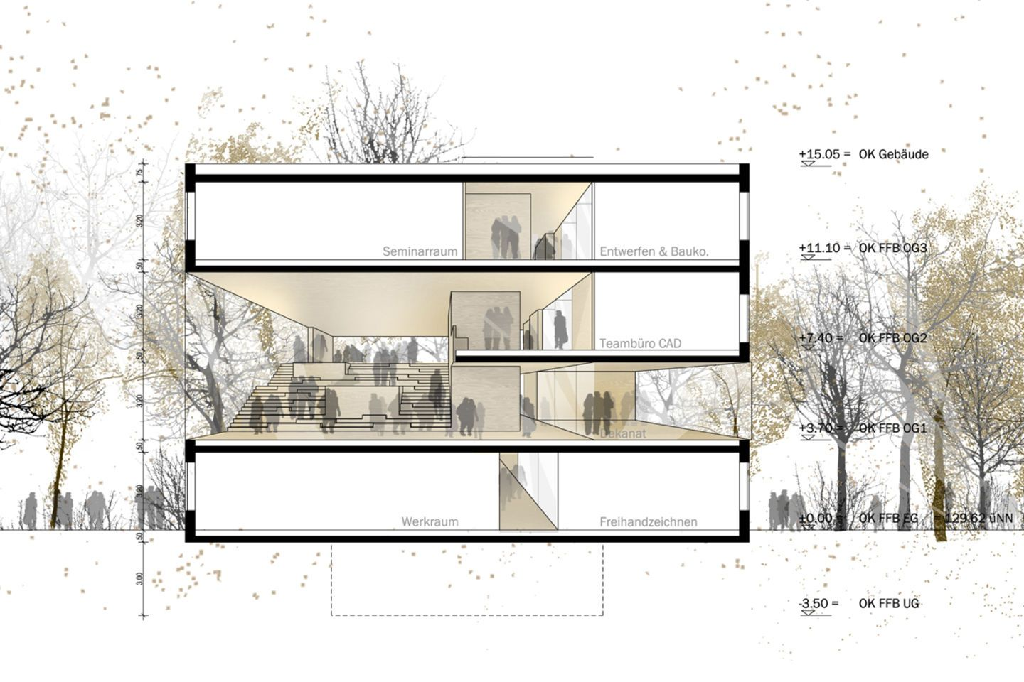 Urbania Bochum Our Concept Of The New Seminar Building For The Faculty Of