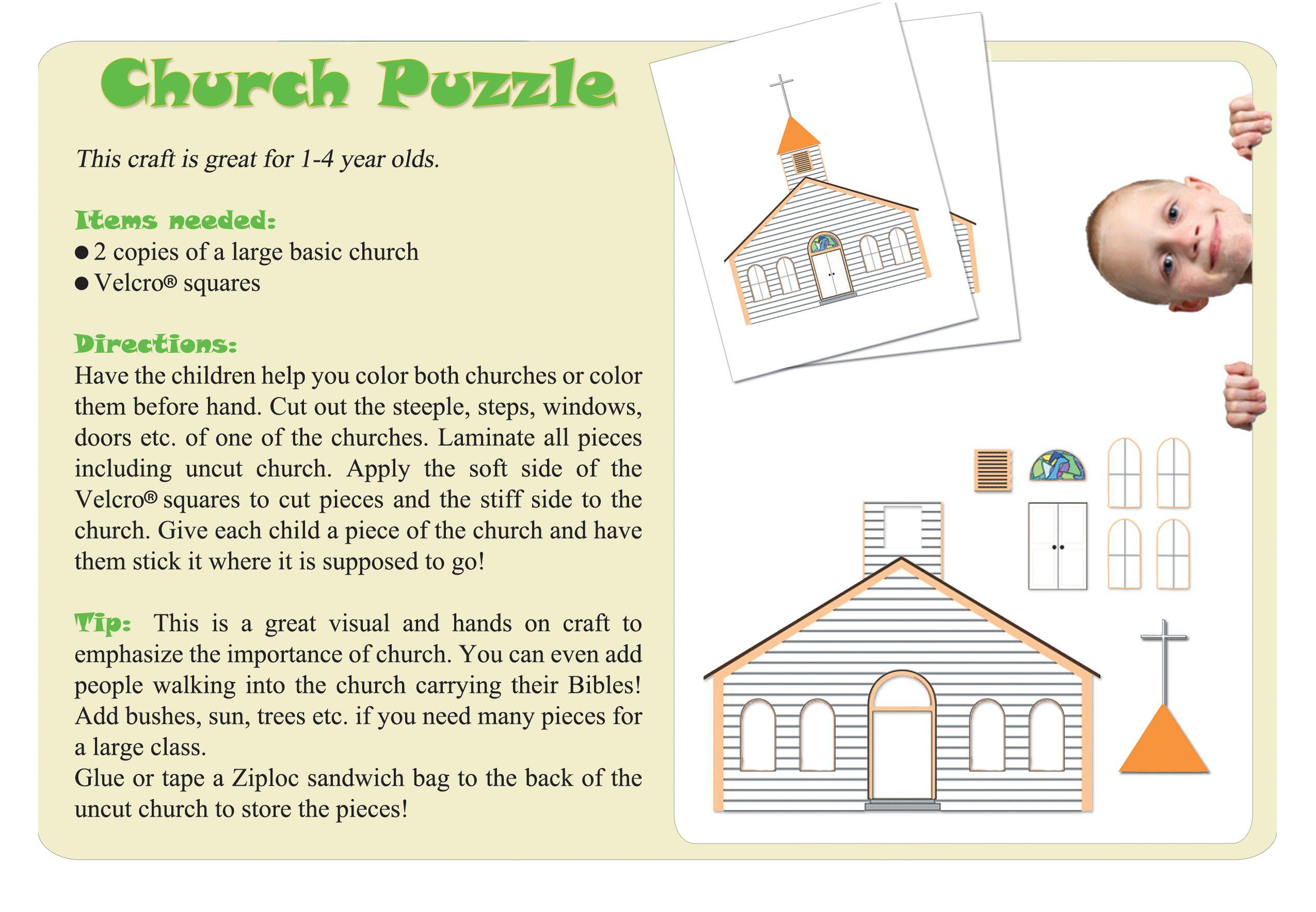 Church Puzzle Craft