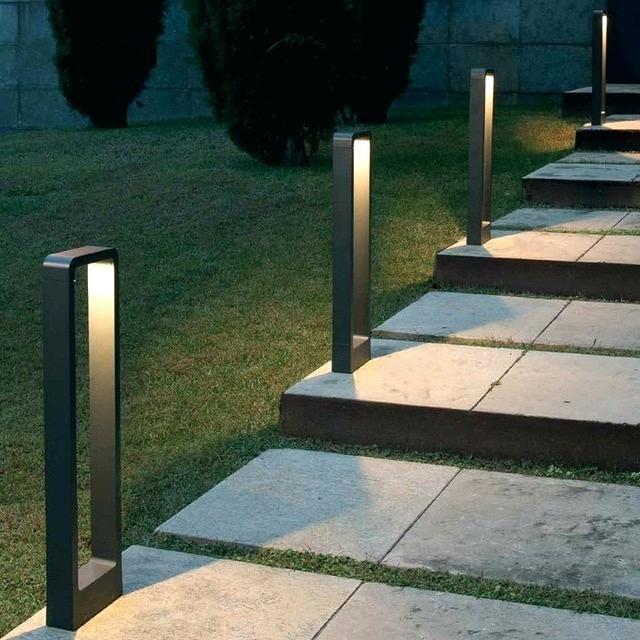 CD56 Low Voltage LED Rectangular Adjustable Bollard Light Landscape Pathway Lighting