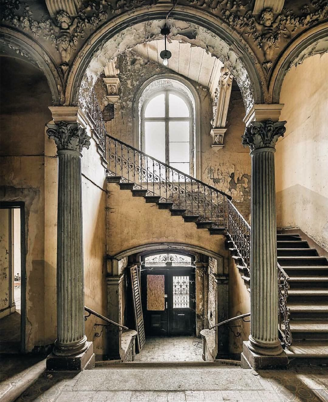 Stairs, Abandoned, Abandoned Places