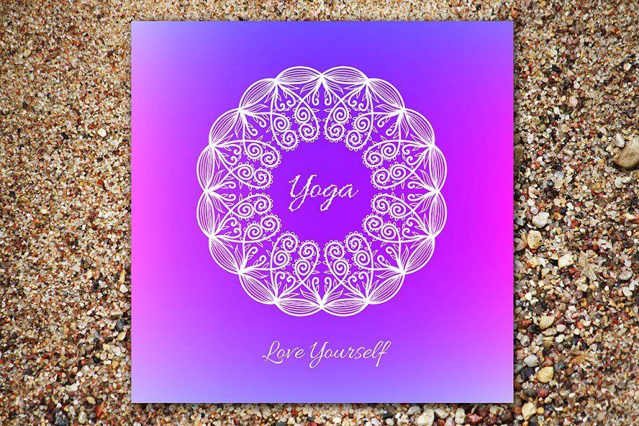 "Photo of ""Yoga School"". Decorative card. , #AFFILIATE, #quot#Lettering#Yoga#Zip #affiliat…"