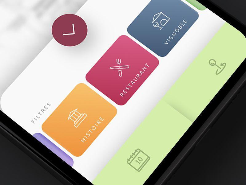 Route du Vin App Filters, Filter design, App