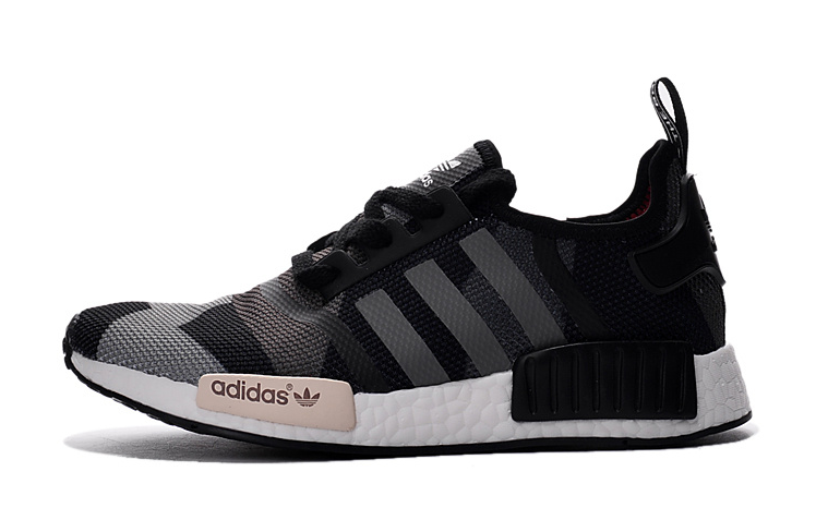 Professional Adidas NMD New Geometry Black Grey Shoes Sale