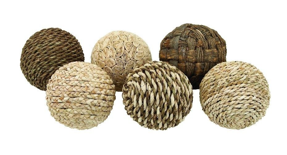 Set of 6 Brown Beige Cream Decorative Round Ball Accent Home Decor 42958 | Furniture, home decor, wall decor, rugs, lamps, lighting outlet.