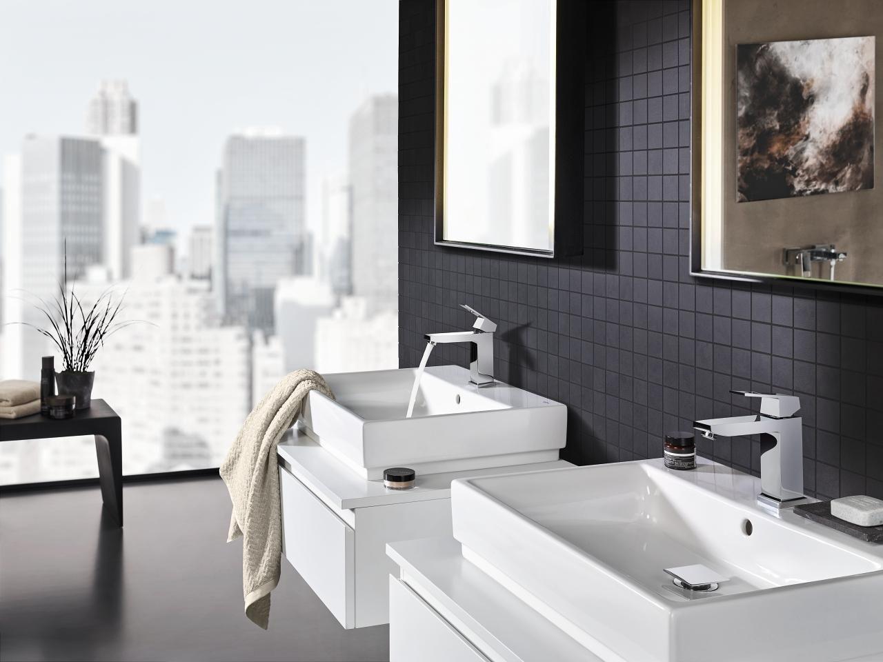 Badkamer met vierkante vormen - Wastafels badkamer ideeën ...