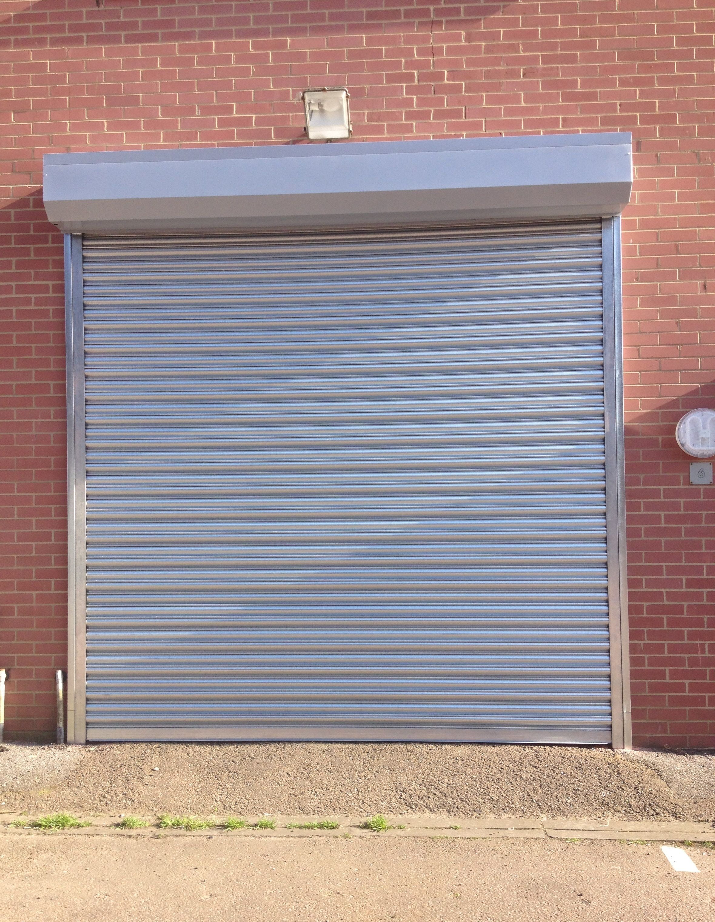 Owner Satisfied With Our Rsg5000 Galvanised Steel Security Roller Shutter Fitted Externally To The Opening Of His Commer Roller Shutters Shutters Shutter Doors