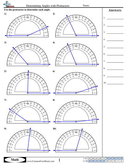Printables Protractor Worksheets protractor worksheets bloggakuten 1000 images about on pinterest geometry