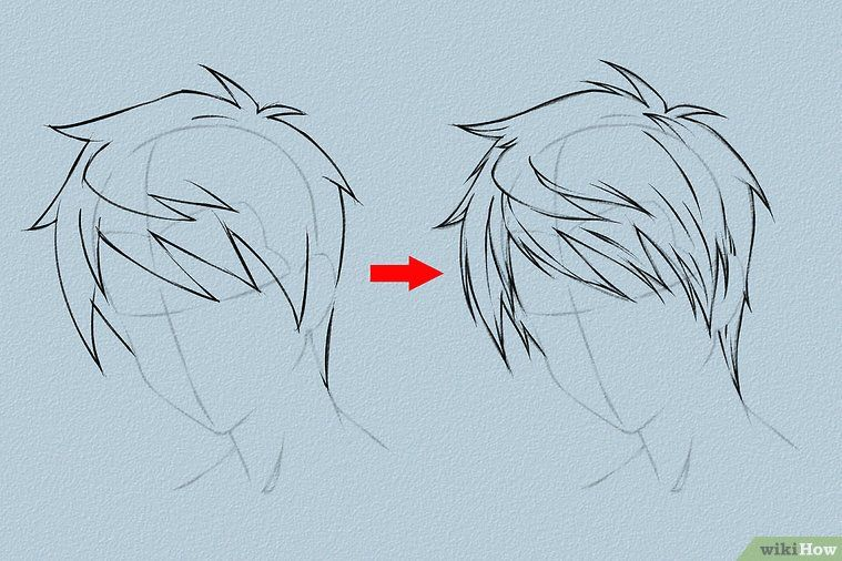 Photo of Drawing anime hair