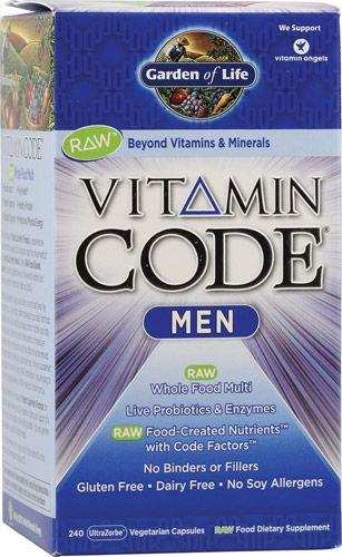Garden Of Life Vitamin Code Men Raw 240 Vegetarian Capsules