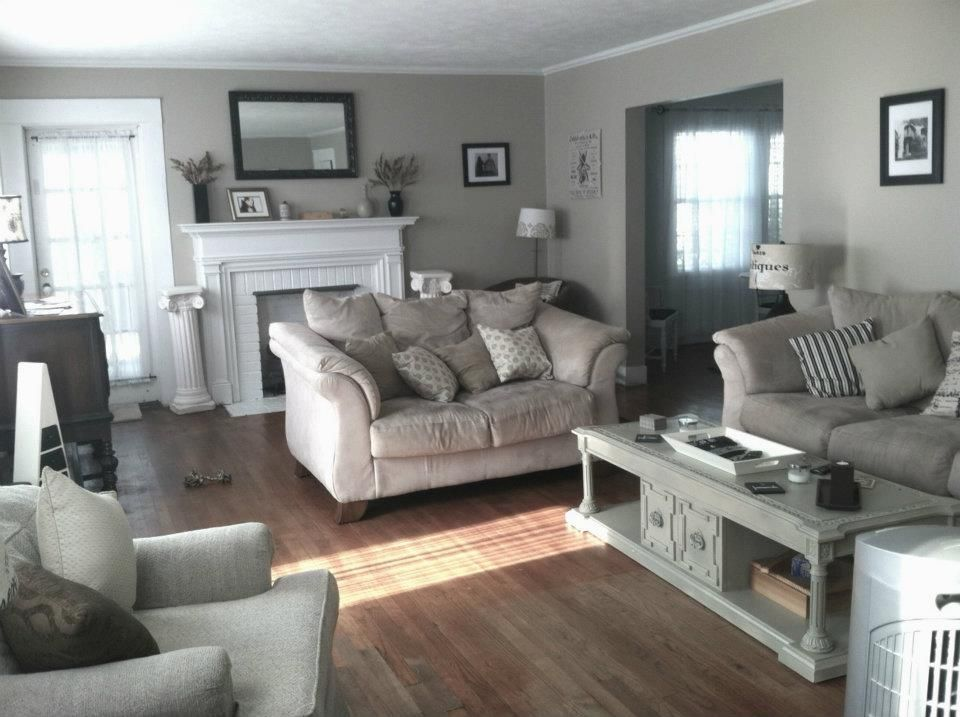 Black, White U0026 Beige Living Room