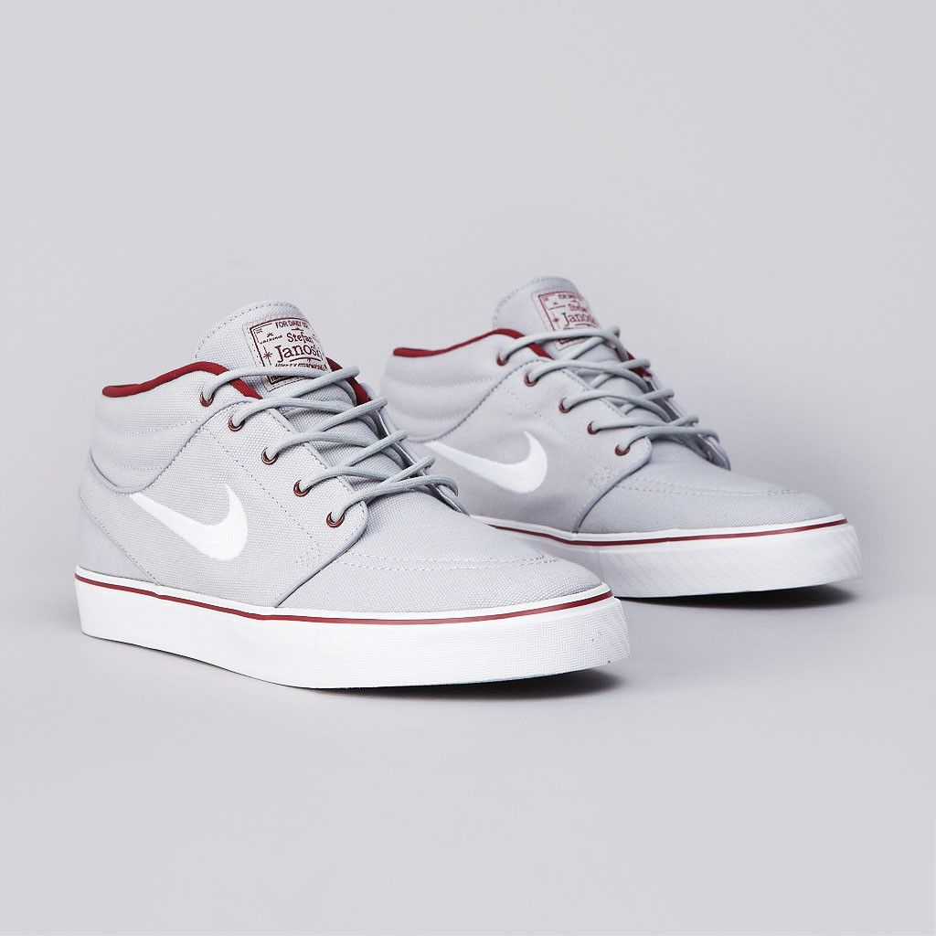 "NIKE SB Zoom Stefan Janoski Mid – ""Wolf Grey/White-Team Red"""