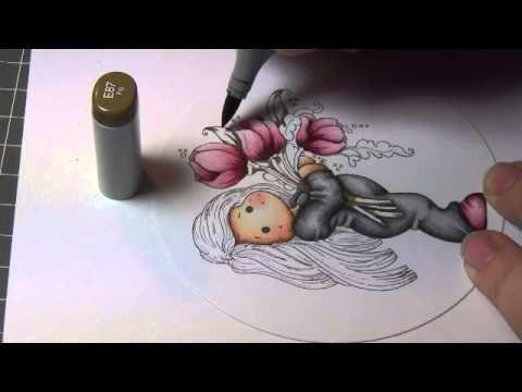 Coloring Video: Tilda With Big Tulips of Magnolia