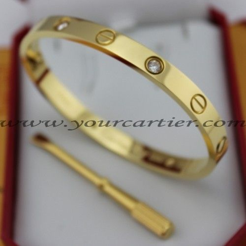 Cartier Yellow Gold Love Bracelet 4 Diamonds B6035916 New Version Prevent S Fall Out Price 95