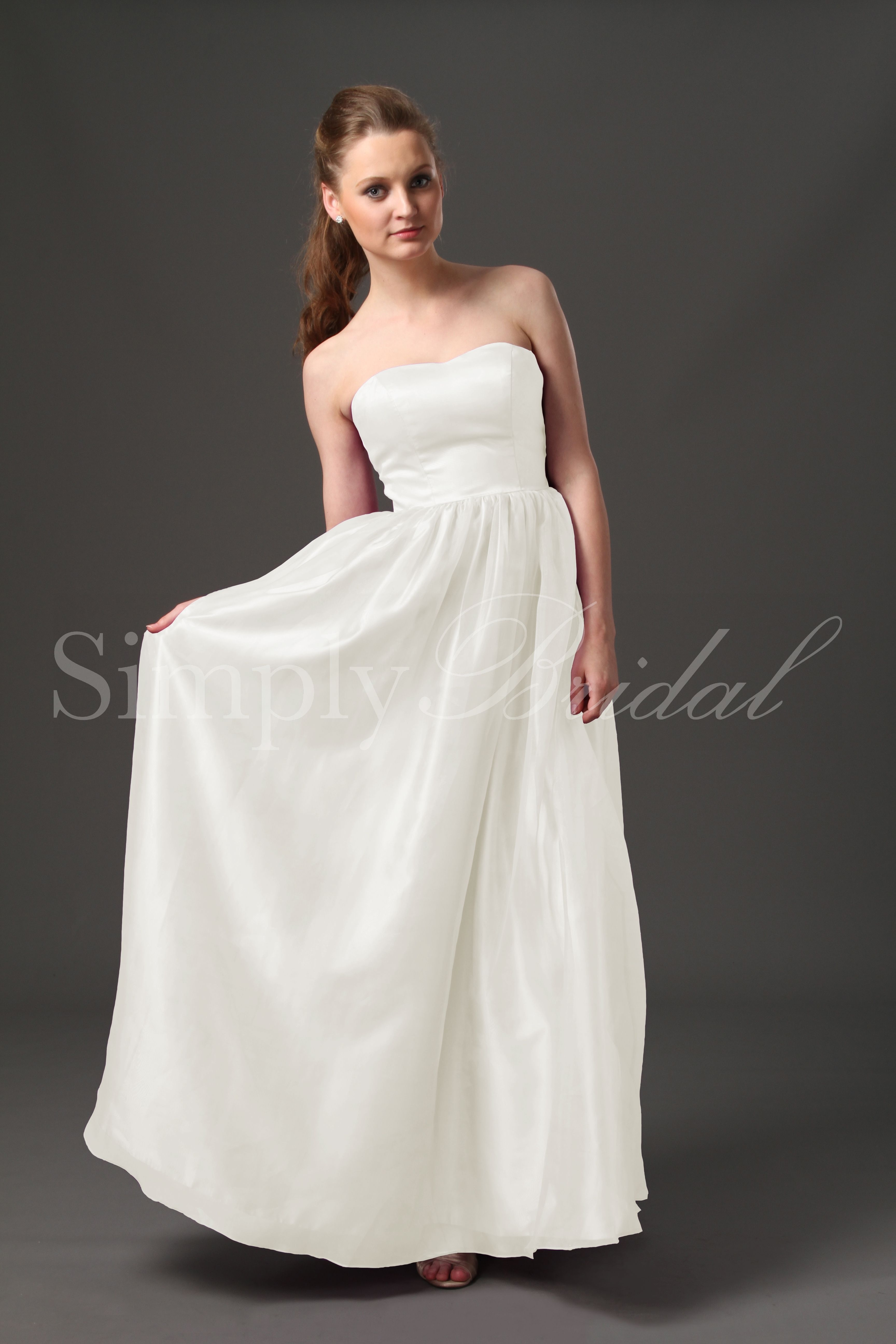 Empire with wide waistband simply bridal jolene gown organza