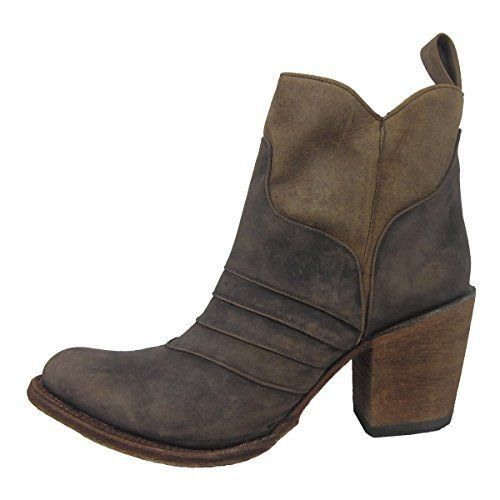 Women's Distressed Chocolate Ankle Boots L5236