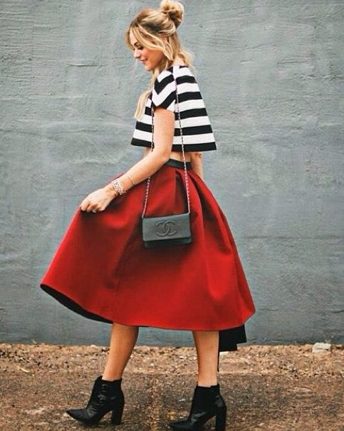 Pretty red skirt