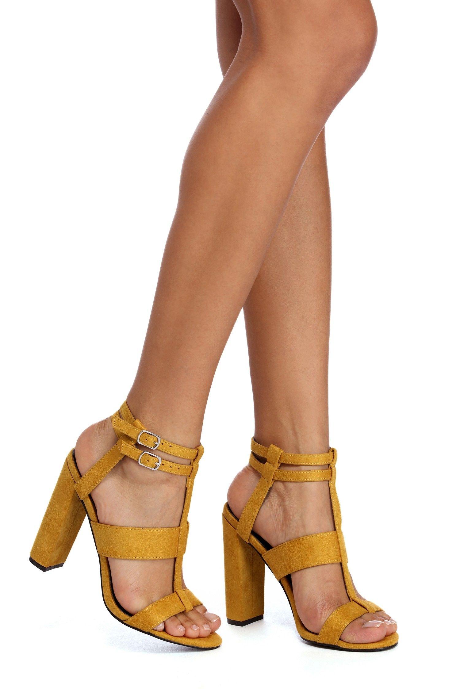 42f9b075a0e5d Buckled Beauty Block Heels in 2019   Shoes   Heels, Block heels ...