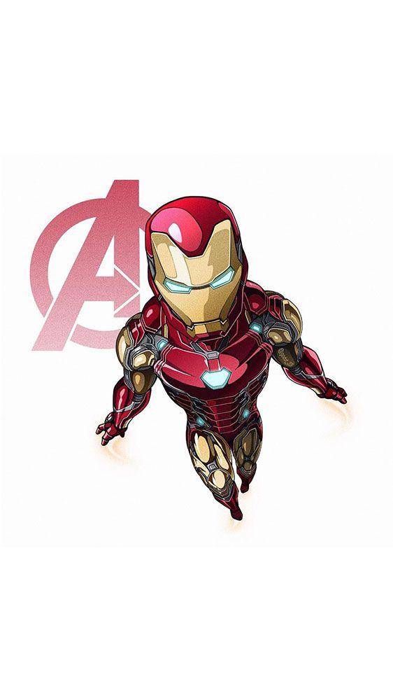 Endgame Simple Art Iron Man IPhone Wallpaper wallpaper