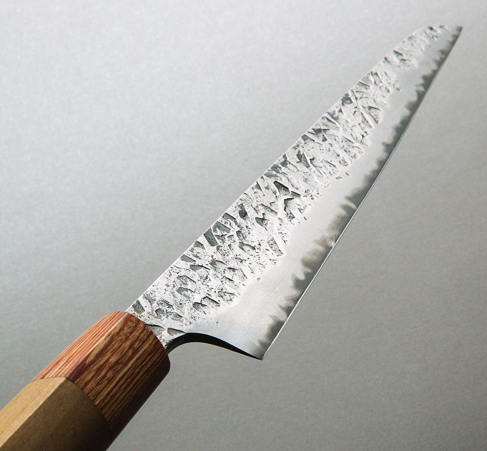 hammered sujihiki 200mm custom kitchen knife by bryan raquin find this pin and more on custom chef knives by eatingtools