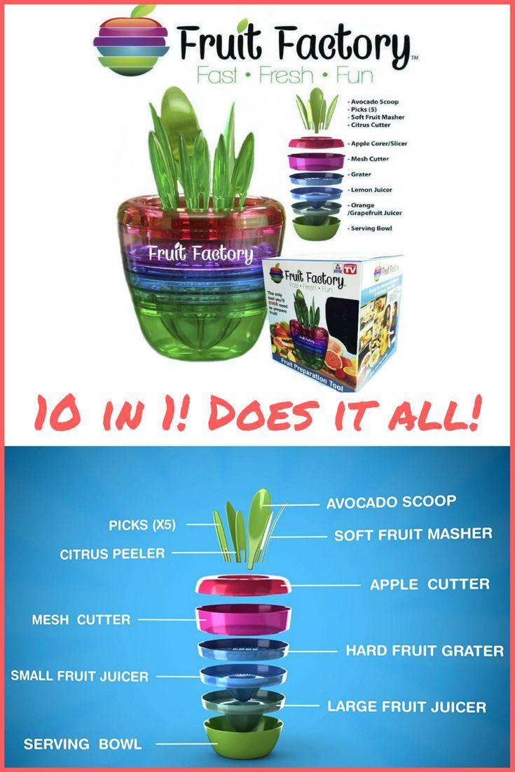 Fruit Factory 10 in 1 Kitchen Gadgets Tools Organizer! Avocado Scoop ...