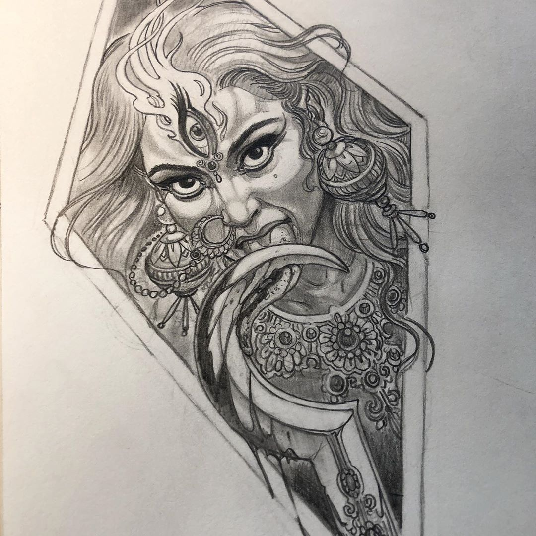 Pin by Soumyajit Dey on tattoo collection in 2020 Kali