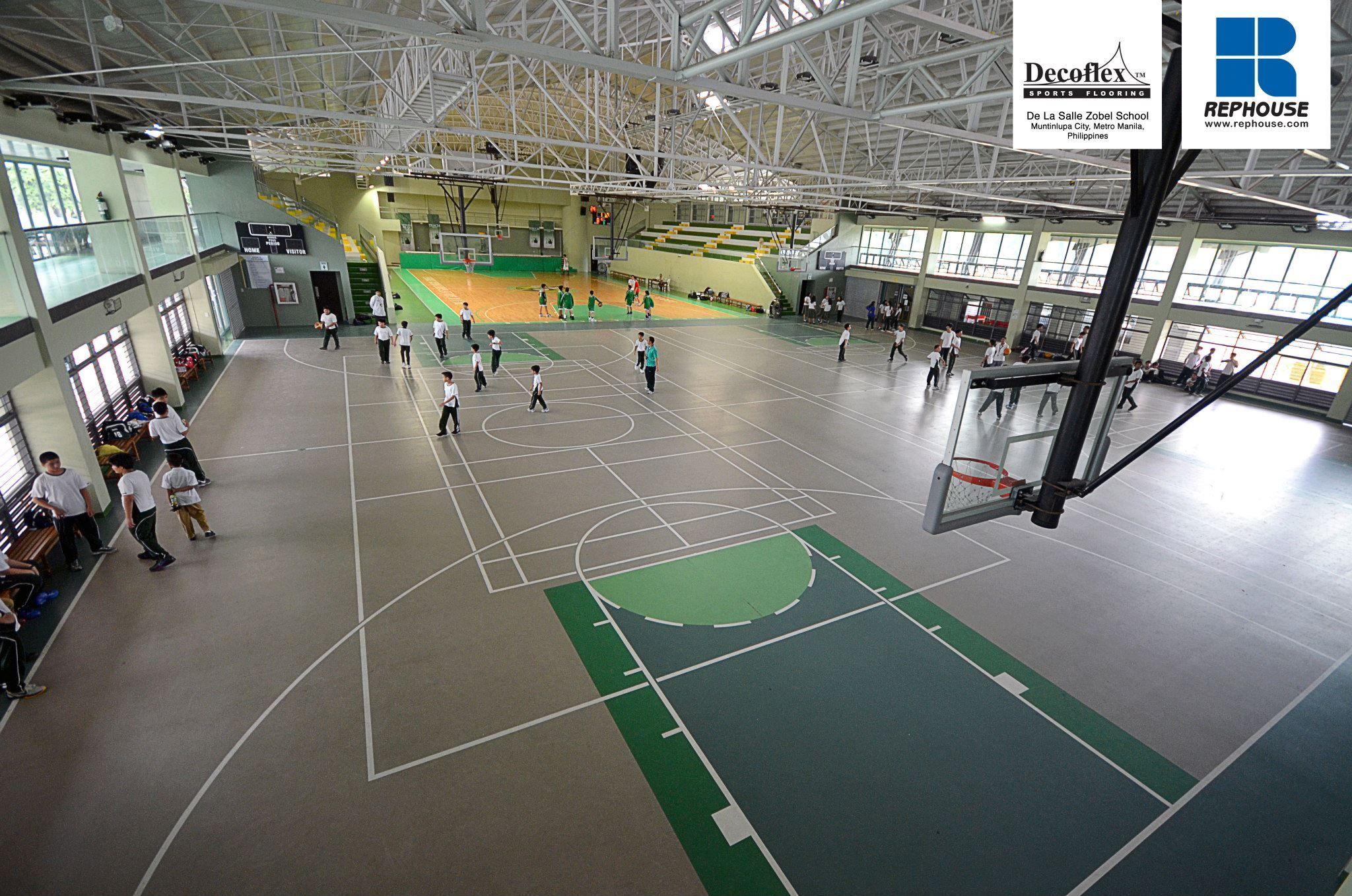 Decoflex Universal Seamless Polyurethane Indoor Sports Flooring De La Salle Zobel School Philippines Indoor Sports Sports Universal