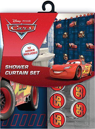 Shower Bath Bathroom Disney Pixar Cars Set Of 12 Curtain Hooks New