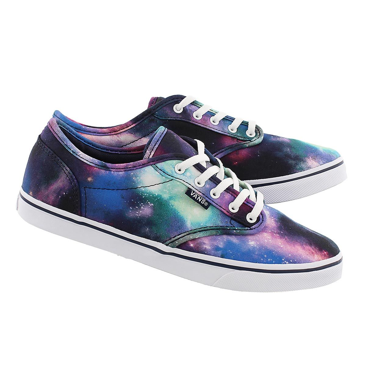 70c2b8cce7e2 Vans Women s ATWOOD LOW cosmic print lace up sneakers VN000ZUODC7 ...
