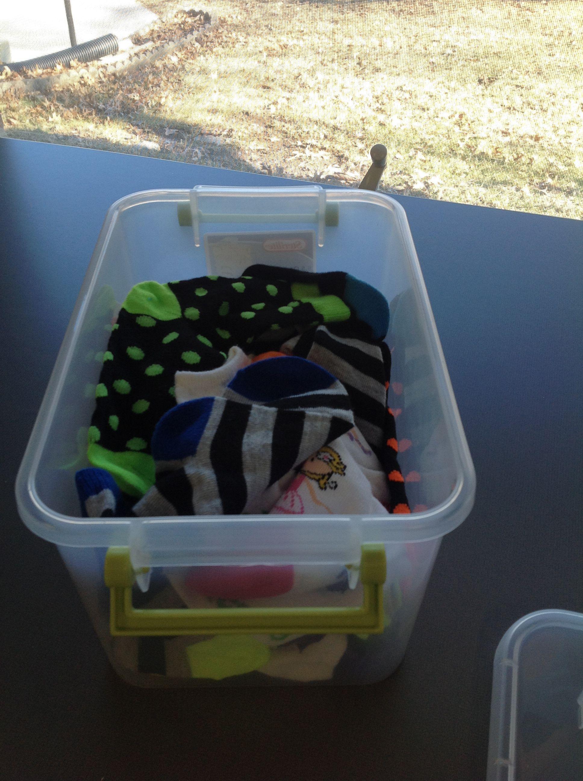 Matching Socks Task Box