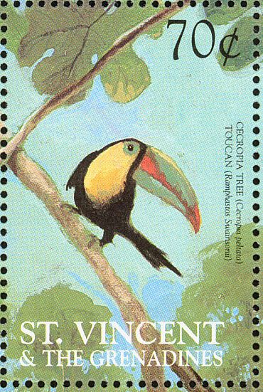 Keel-billed Toucan stamps - mainly images - gallery format
