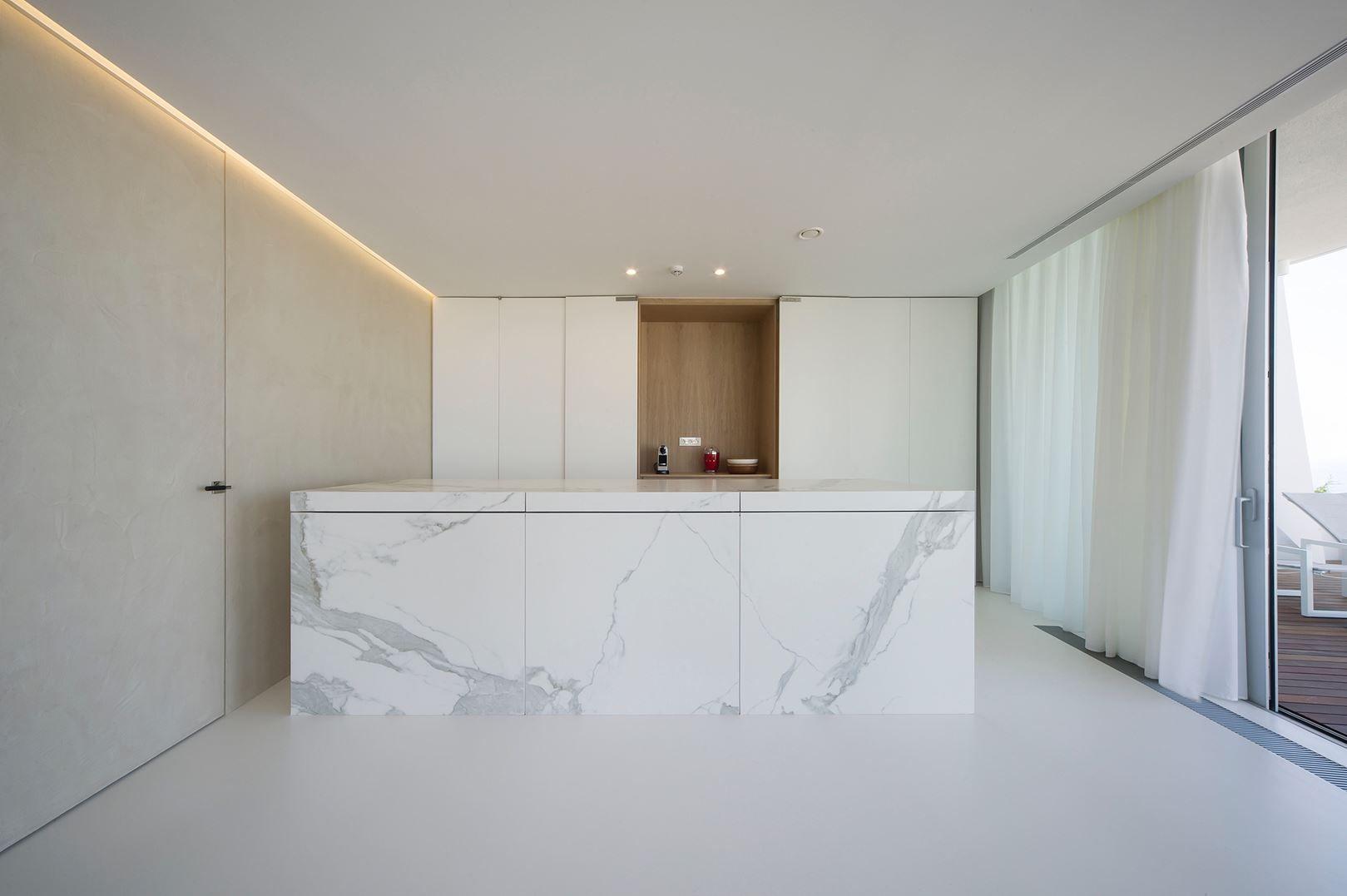 Apartment In The Sun | Filip Deslee #kitchen #marble | interiors _ ...