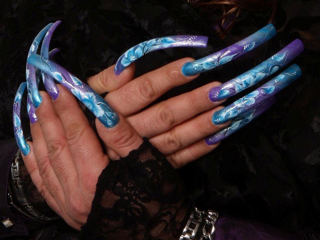 long-floral-nails.jpg (1024×768) | LONG NAILS | Pinterest | Beauty ...