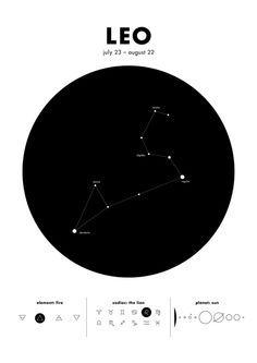 Leo Star Constellation Art Print Tatuajes De Constelaciones